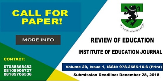 INSTITUTE OF EDUCATION CALL FOR PAPERS BANNER